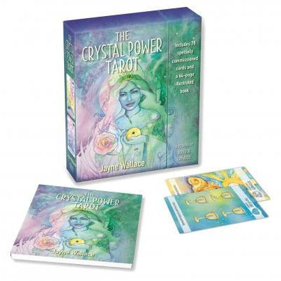 Crystal Power Tarot Includes A Full Deck Of 78 Specially Commissioned Tarot Cards And A 64-page Il.. - books 4 people
