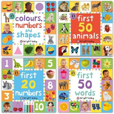 Lift-the-flap Tab Books Collection 4 Books Set Preschool Skills Early Learning Colours Numbers And.. - books 4 people