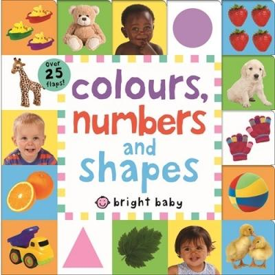 Colours Numbers And Shapes Bright Baby Lift-the-flap Tab Books - books 4 people