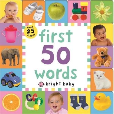 First 50 Words Bright Baby Lift-the-flap Tab Books - books 4 people