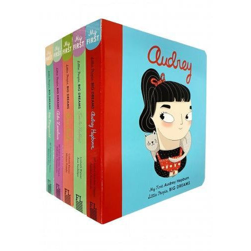 Little People Big Dreams Series 2 Collection 5 Books Set Rosa Parks Audrey Hepburn Ella Fitzgerald.. - books 4 people