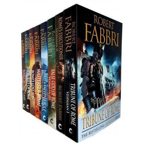 Robert Fabbri Vespasian Series 8 Books Collection Set - Furies Of Rome Romes Fallen Eagle Romes Ex.. - books 4 people
