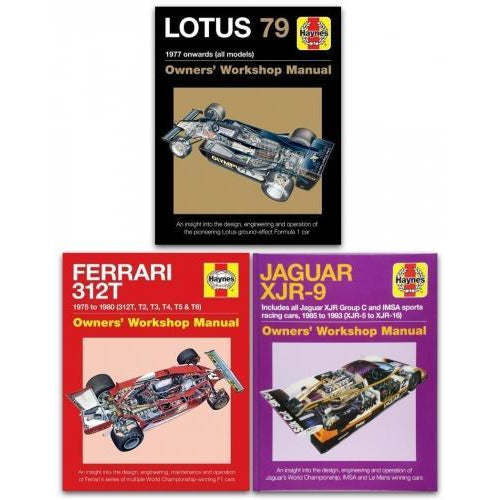 Haynes Manual 3 Books Collection Set - Owners Workshop Manual Lotus 79 Owners Workshop Manual Ferr.. - books 4 people