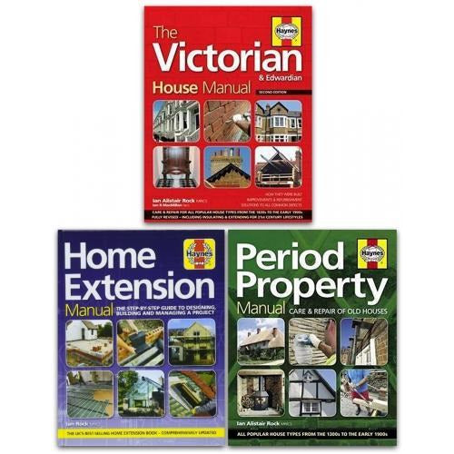 Haynes Property Manual 3 Books Collection Set Home Extension The Victorian House Period Property - books 4 people