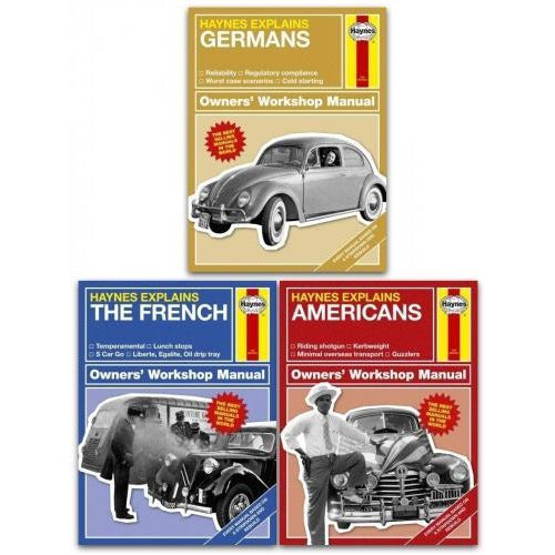 Haynes Explains 3 Books Collection Set - German The French Americans - books 4 people