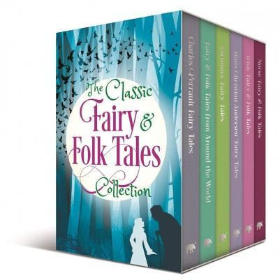 The Classic Fairy And Folk Tales 6 Books Box Collection Set - Charles Perrault Grimms Hans Christi.. - books 4 people