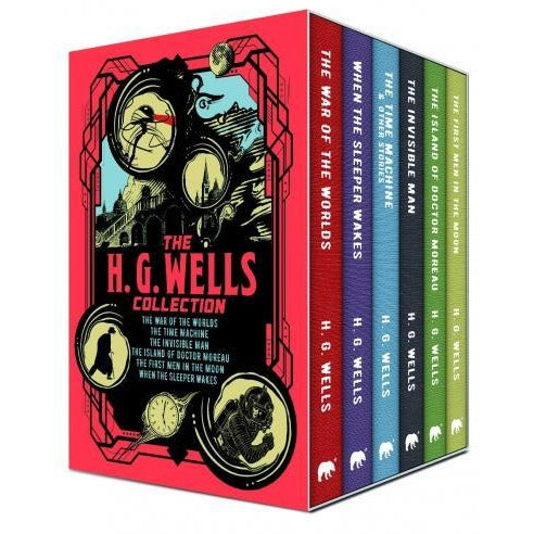 The H G Wells 6 Books Box Collection Set - First Men In The Moon Island Of Doctor Moreau Invisible.. - books 4 people