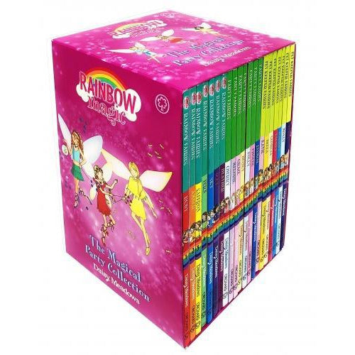 Rainbow Magic The Magical Party Collection 21 Books Set Rainbow Fairies Book 1-7 Party Fairies Boo.. - books 4 people