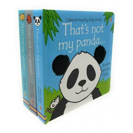 Thats Not My Animals 3 Books Collection Set Pack Panda Squirrel Hamster Touchy-feely Board Books - books 4 people