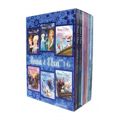 Disney Frozen Anna And Elsa 6 Books Set Collection By Erica David - Books 1-6 - books 4 people