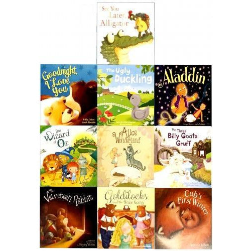 Children Picture Storybooks 10 Books Collection Set The Ugly Duckling Aladdin Goldilocks Wizard Of.. - books 4 people