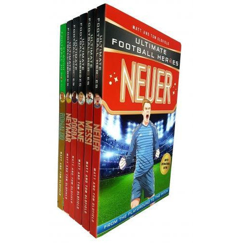 Ultimate Football Heroes 6 Books Collection Set Ronaldo Messi Neymar Neuer Kane Pogba - books 4 people