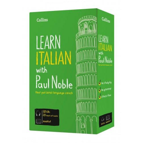 Learn Italian With Paul Noble Collins 12 Cds Booklet Dvd Collection Box Set - books 4 people