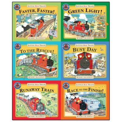 Little Red Train Benedict Blathwayt Collection 6 Books Set Faster Faster Green Light To The Rescue.. - books 4 people