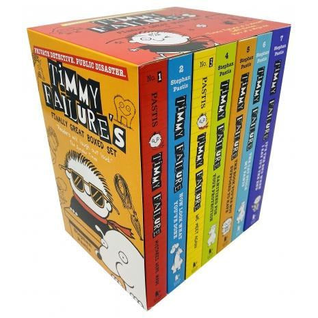 Timmy Failures Finally Great Boxed Set Volume 1 - 7 Books Collection Series By Stephan Pastis - books 4 people