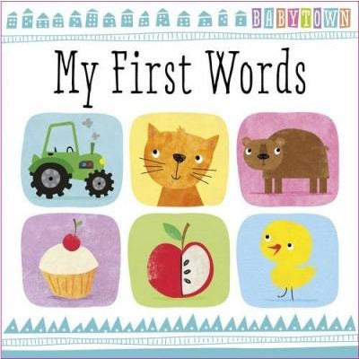 Babytown My First Words Children Hardback Illustrated Book - books 4 people