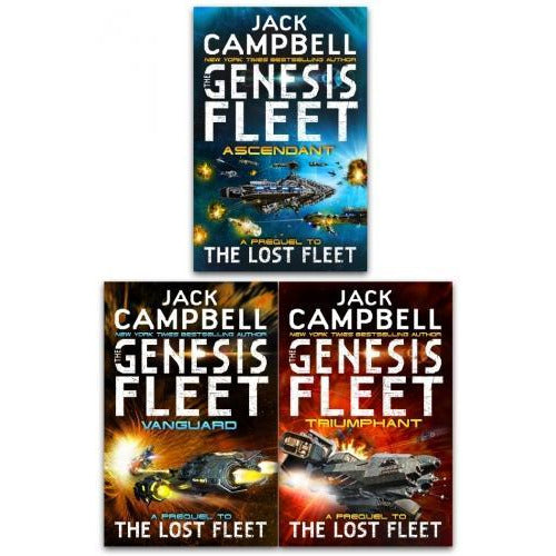 Jack Campwell Genesis Fleet Series 3 Books Collection Set - Genesis Fleet Ascendant Genesis Fleet .. - books 4 people