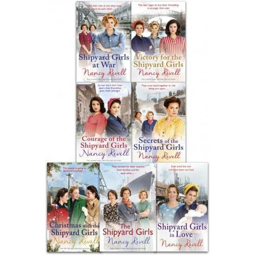 Nancy Revell The Shipyard Girls Series 7 Books Collection Set Shipyard Girls At War Secrets Of The Shipyard Girls In Love - books 4 people