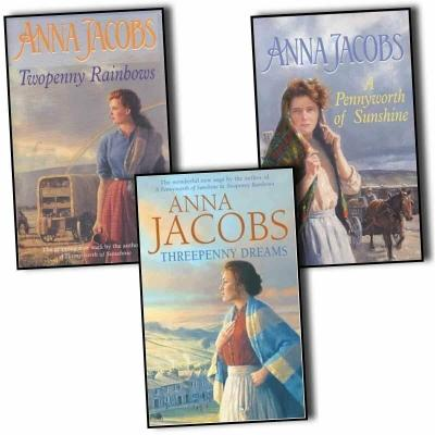 Anna Jacobs Michaels Family 3 Books Collection Pack Set - Threepenny Dreams A Pennyworth Of Sunshi.. - books 4 people