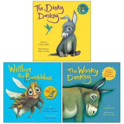 The Dinky Donkey Willbee The Bumblebee The Wonky Donkey 3 Books Collection Set Childrens Bedtime S.. - books 4 people