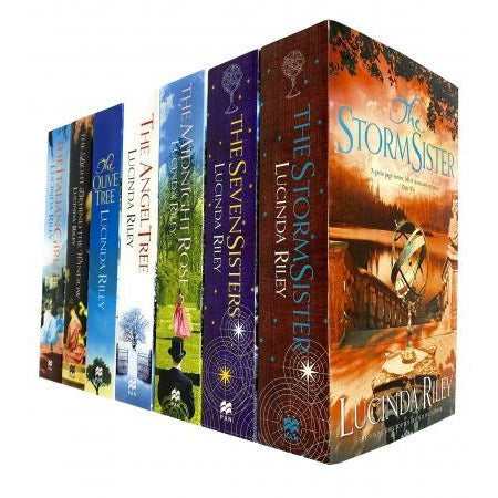 Lucinda Riley 7 Books Collection Set Seven Sisters Storm Sister Midnight Rose Angel Tree Olive Tree - books 4 people