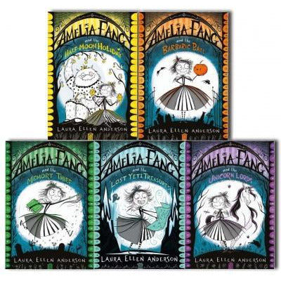 Laura Ellen Anderson Amelia Fang Series 5 Books Collection Set - Memory Thief Unicorn Lords Barbar.. - books 4 people