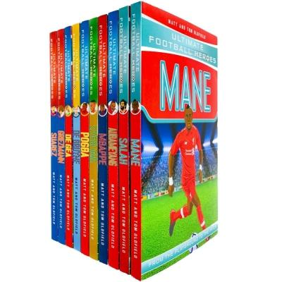 Ultimate Football Heroes Series 2 Collection 10 Books Set Mane Salah Aubameyang Mbappe Sterling Po.. - books 4 people