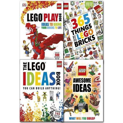 Lego 4 Books Collection Set 365 Things To Do With Lego Bricks The Lego Ideas Book You Can Build An.. - books 4 people