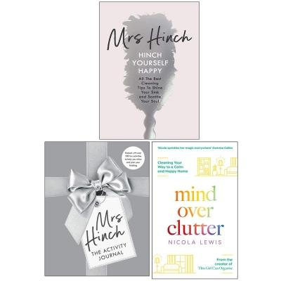 Mrs Hinch And Nicola Lewis Collection 3 Books Set The Activity Journal Hinch Yourself Happy Mind O.. - books 4 people
