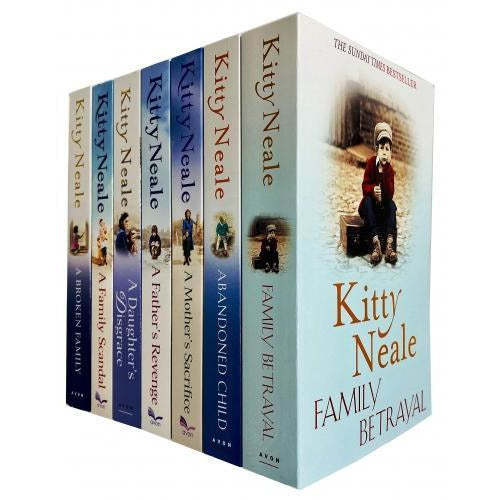 Kitty Neale Collection 7 Books Set Family Betrayal Abandoned Child Mothers Sacrifice Fathers Reven.. - books 4 people