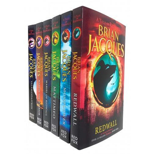 Brian Jacques Redwall Series 6 Books Collection Set Redwall Mossflower Mattimeo Mariel Of Redwall .. - books 4 people