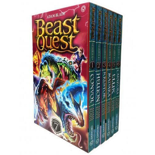 Beast Quest Series 7 6 Books Box Collection Pack Set The Lost World Books 37-42 - books 4 people