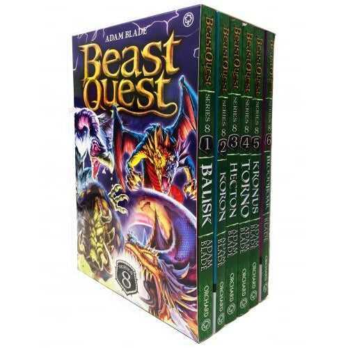 Beast Quest Series 8 6 Books Box Collection Pack Set Books 43-48 - books 4 people