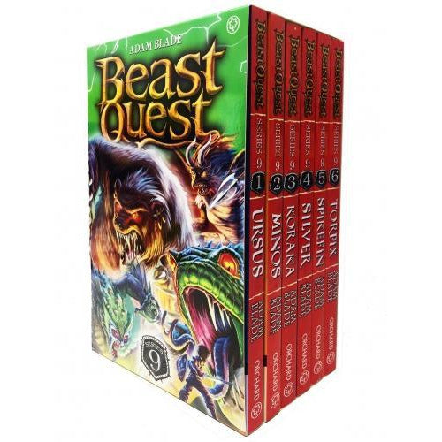 Beast Quest Series 9 6 Books Box Collection Pack Set Books 49-54 - books 4 people