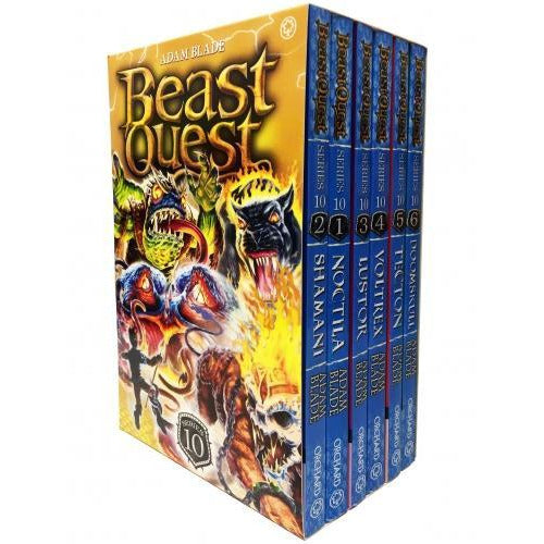 Beast Quest Series 10 6 Books Box Collection Pack Set Books 55-60 - books 4 people