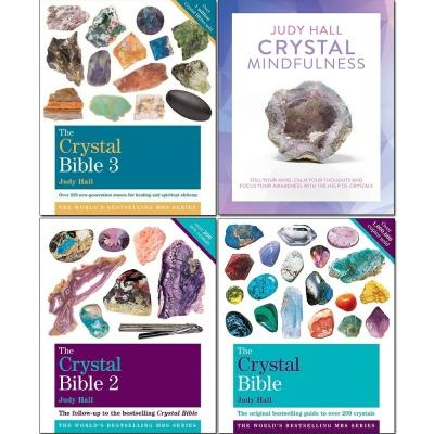 The Crystal Bible Volume 13 Books And Crystal Mindfulness 4 Books Collection Set By Judy Hall - books 4 people