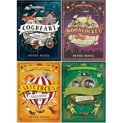 Peter Bunzl A Cogheart Adventure Collection Series 4 Books - Cogheart Moonlocket Skycircus Shadowsea - books 4 people
