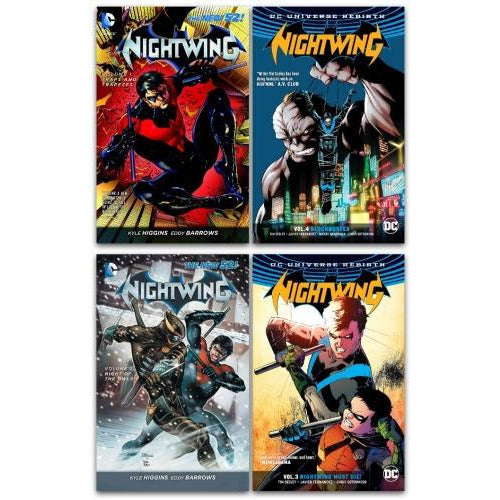 Dc Universe Nightwing Series 4 Books Collection Set - Traps And Trapezes Night Of The Owls Nightwi.. - books 4 people