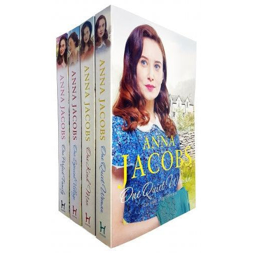Anna Jacobs Ellindale Series 4 Books Collection Set - One Kind Man One Special Village One Quite W.. - books 4 people