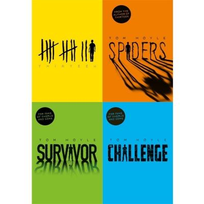 Tom Hoyle Collection 4 Books Set - Thirteen  Spiders  Survivor The Challenge - books 4 people
