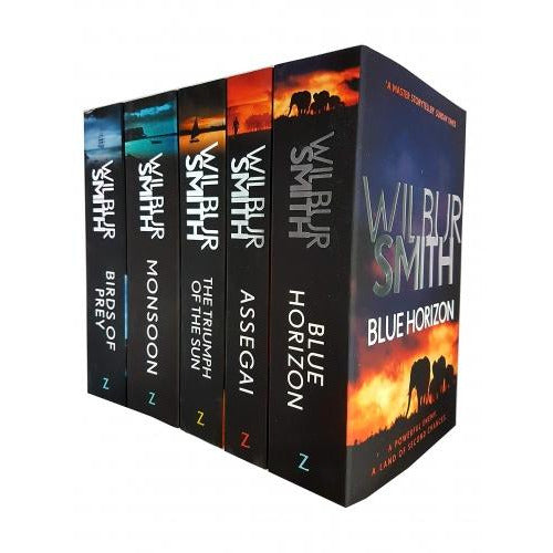 Wilbur Smith Courtney Series 5 Books Collection Set Book 9-13 - Assegai The Triumph Of The Sun Blu.. - books 4 people
