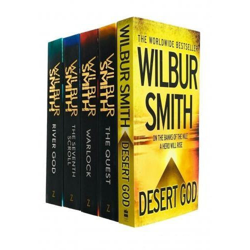 Wilbur Smith Egyptian Series 5 Books Collection Set - Desert God The Quest Warlock The Seventh Scr.. - books 4 people