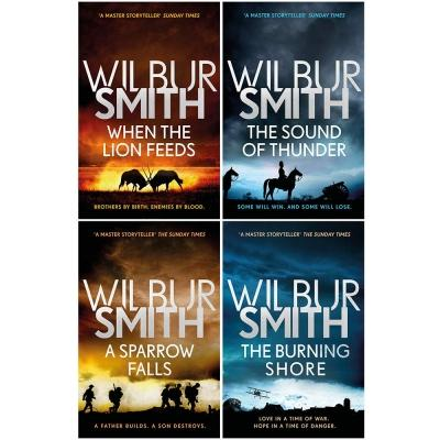 Wilbur Smith Courtney Series 4 Books Collection Set Book 1 To 4 - When The Lion Feeds The Sound Of.. - books 4 people