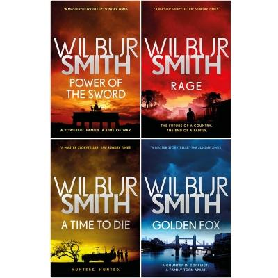 Wilbur Smith Courtney Series 4 Books Collection Set - Book 5 To 8 - Power Of The Sword Rage A Time.. - books 4 people