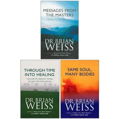 Dr Brian Weiss 3 Books Collection Set - Messages From The Masters Through Time Into Healing  Same .. - books 4 people