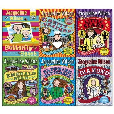 Hetty Feather Series Jacqueline Wilson Collection 6 Books Set Butterfly Beach Hetty Feather Little.. - books 4 people