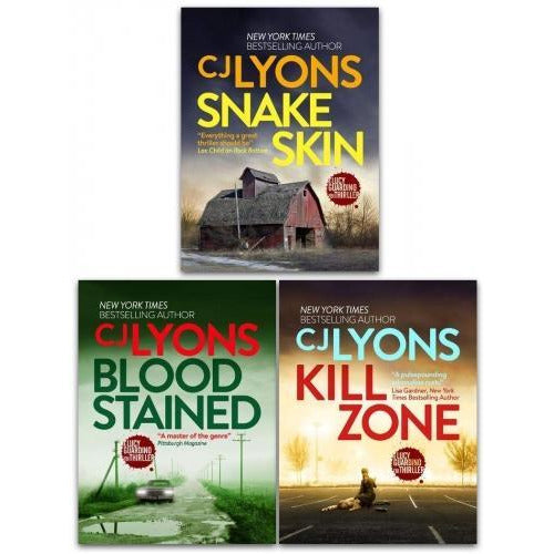 Cj Lyons Lucy Guardian Fbi Thrillers 3 Books Collection Set  Kill Zone Blood Stained Snake Skin - books 4 people