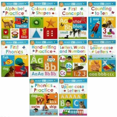Pre-School / Reception Ready Set Learn 10 Wipe Clean Books Set Colours Shapes Numbers Phonics Handwriting - books 4 people
