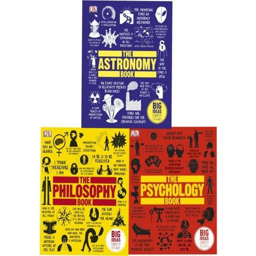 Big Ideas Series Collection 3 Books Set The Philosophy Book The Psychology Book The Astronomy Book - books 4 people