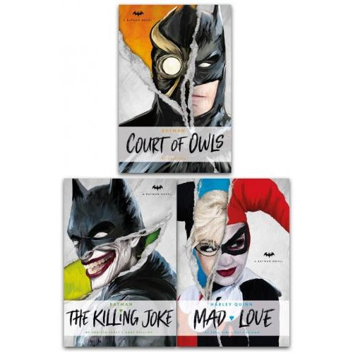 Dc Novels Batman And Harley Quinn 3 Books Collection Set - The Court Of Owls The Killing Joke Mad .. - books 4 people